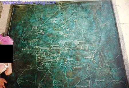 Le site de la bataille d'Austerlitz en 1993, 3, la carte de la bataille