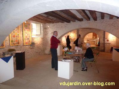 Les bannières de Cluny à Bouchemaine, 2, la salle d'exposition