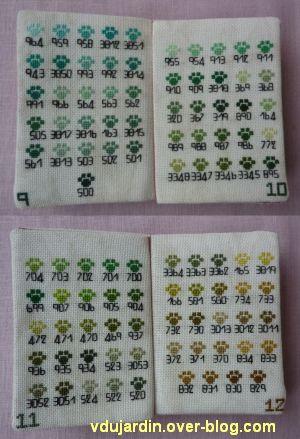 Les merveilles de Cocoperlette, 5, pages 9 à 12 du nuancier