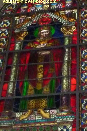 Poitiers, verrière de saint Martin dans l'église Saint-Hilaire