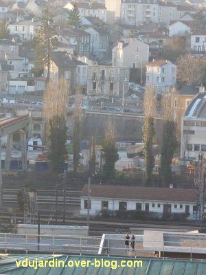 Poitiers, démontage de la grande passerelle, semaine 9, coupe des peupliers