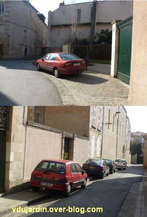 Incivilités à Poitiers, mars 2012, 1, rues des Flageolles et des Gaillards