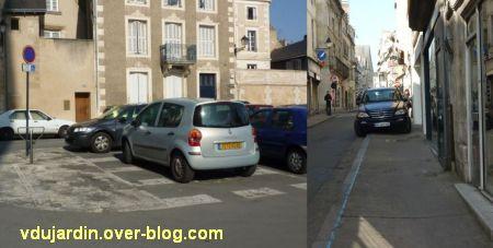 Incivilités à Poitiers, mars 2012, 2, place de la cathédrale et Grand'Rue