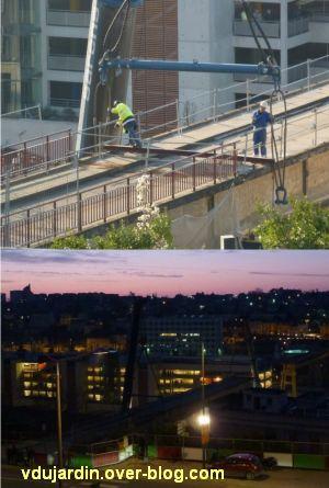 Poitiers, démontage de la grande passerelle, semaine 9, 06, quatrième travée, préparation