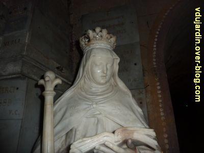 Poitiers, Anne d'Autriche en sainte Radegonde, 3, détail de la tête