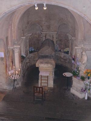 La crypte et le tombeau de sainte Radegonde à Poitiers
