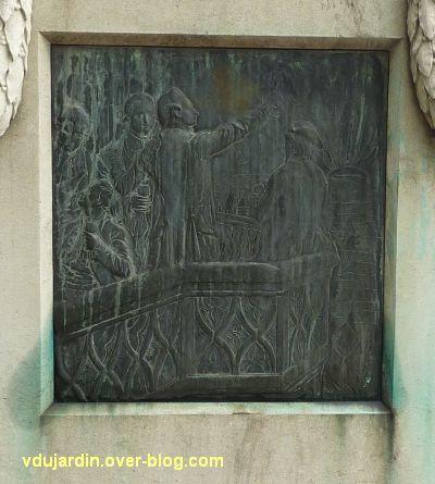Le monument Goethe à Strasbourg, 3, le relief sur le socle de Goethe