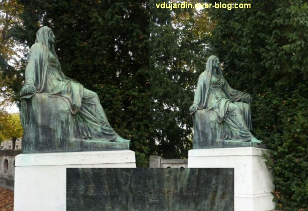 Le monument Goethe à Strasbourg, 6, la muse de la tragédie à droite