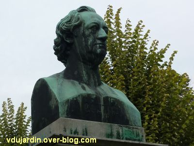 Strasbourg, le buste de Goethe, 2, vu de face