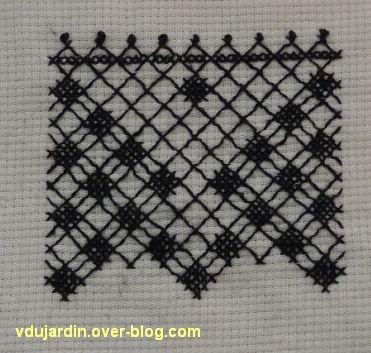Un motif de dentelle de Tulle brodée