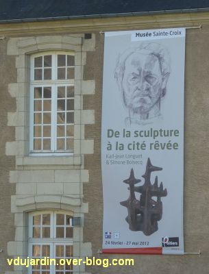 Bannière de l'exposition Karl Jean Longuet et Simone Boisecq au musée de Poitiers en 2012