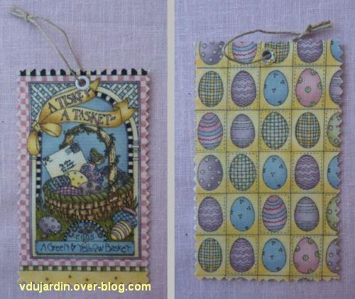 Cadeaux d'emmanuelle en mars 2012, 1, étiquette de Pâques