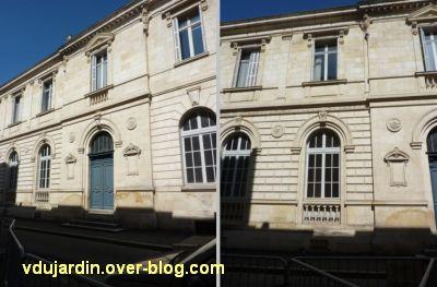 La préfecture des Deux-Sèvres à Niort, 8, le décor d'arhitecture de l'aile gauche