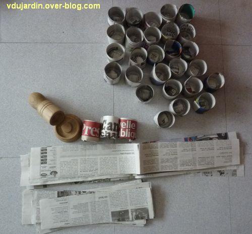 Semis le blog de v ronique d - Bricolage en papier journal ...