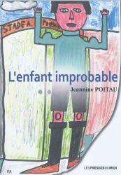 Couverture de L'enfant improbable de Jeannine Poitau