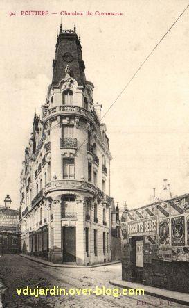 Poitiers, ancienne chambre de commerce, carte postale ancienne