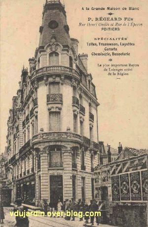 Poitiers, ancienne chambre de commerce, avec magasin, carte postale ancienne