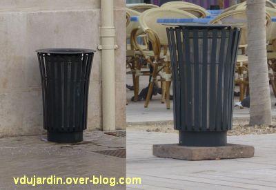 Le nouveau mobilier urbain de Poitiers, mars 2012, 02, les poubelles en place