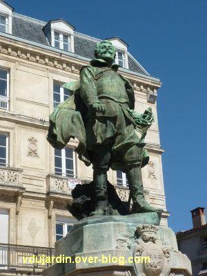 Monument à Jean Guiton à La Rochelle, 02, la statue de bronze
