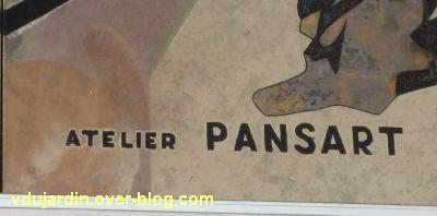 Miroir de l'ancien théâtre de Poitiers, 02, signature de l'atelier Pansart