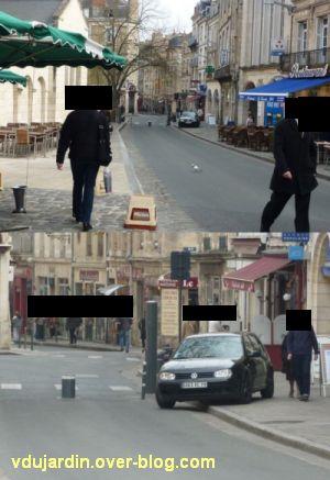 Contournement des plots voitures rue du Marché à Poitiers