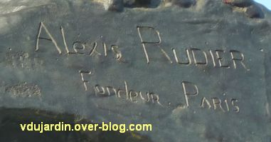 Angers, monument aux morts, 5, marque du sculpteur Rudier