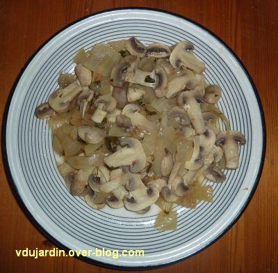 Champignons aux oignons