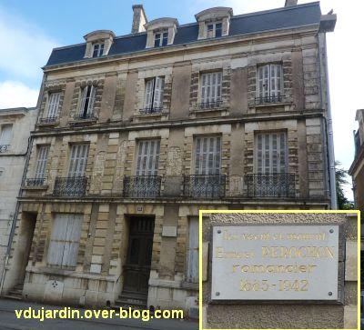 Niort, Ernest Pérochon, 1, la façade de sa maison
