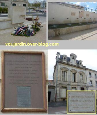 Niort, les monuments à la résistance, 5, d'autres lieux de mémoire de la résistance