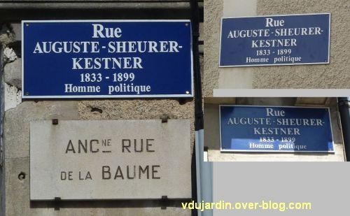 La plaque de la rue Scheurer-Kestner à Poitiers, avec trois fois un c manquant