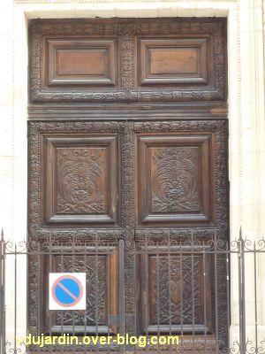 Poitiers, portail des Augustins, 5, la porte