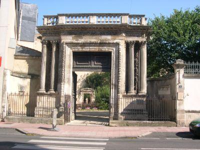 Le portail de l'ancien couvent des Augustins à Poitiers