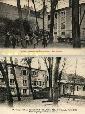 Poitiers, institution des Mlles d'Auzay à Saint-Hilaire, 3, cour haute