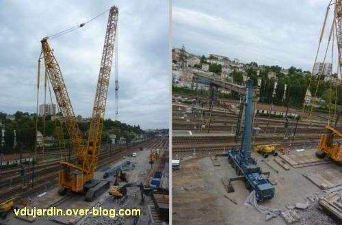 Poitiers, démolition de la grande passerelle, 19 mai