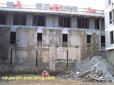 Poitiers, le clos Saint-Hilaire, le bâtiment en cours de construction