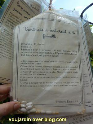 Chaumont-sur-Loire, festival des jardins 2012, jardin 1, 3, recettes en sachets