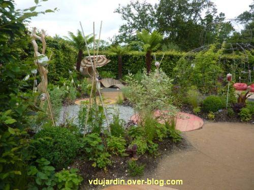 Chaumont-sur-Loire, festival des jardins 2012, jardin 5, 1, vue générale