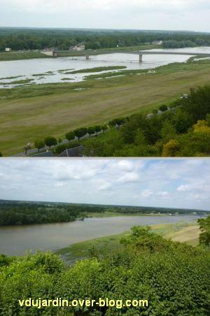 Chaumont-sur-Loire, la Loire qui déborde le 15 juin 2012