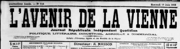 Le journal de la Vienne, 19 juin 1912