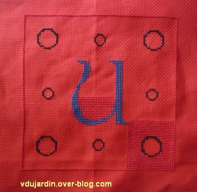 Le U pour Kutzenhausen, 1, début de la broderie du U