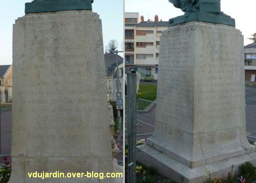 Le monument Théophraste Renaudot à Loudun, 5, les faces gauche et arrière
