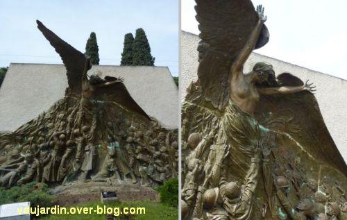 Monument aux morts de Skikda/Philippeville à Toulouse, 2, deux vues de la Victoire centrale