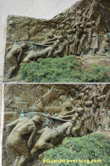Monument aux morts de Skikda/Philippeville à Toulouse, 4, deux vues du côté gauche