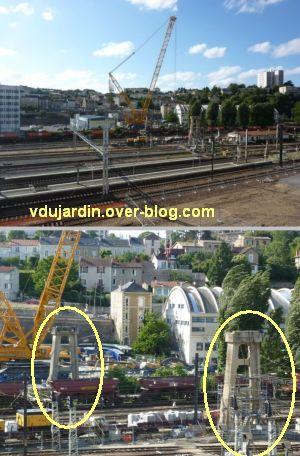 Poitiers, démontage de la grande passerelle, juin 2012, 2, 6 juin, encore les piles