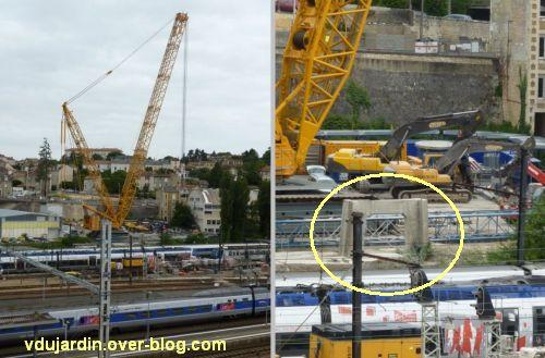 Poitiers, démontage de la grande passerelle, juin 2012, 3, 9 juin, terminé