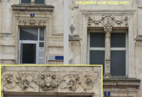 Poitiers, 3 rue Victor Hugo, 4, partie médiane et porte de la travée centrale