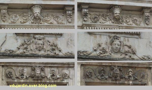 Poitiers, 3 rue Victor Hugo, 8, détail des linteaux des travées droites