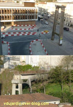 Poitiers, avril 2012, 08, démolition de la passerelle des Rocs, côté est
