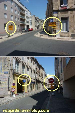 Poitiers, fin mai 2012, 6, panneaux rue carnot