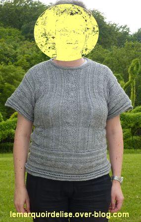 Mon nouveau pullover terminé
